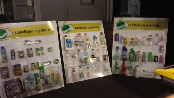 Les emballages recyclables